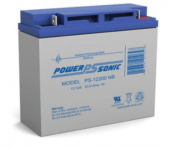 powersonic, power sonic, sla, sealed lead acid, PS-12200, 12V 20Ah, nut and bolt terminal