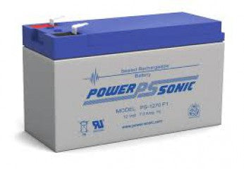 powersonic, power sonic, sla, sealed lead acid, PS-1270, 12V 7Ah, F1 terminal
