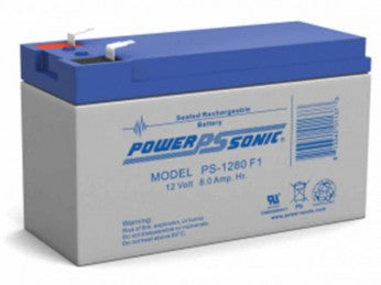 powersonic, power sonic, sla, sealed lead acid, PS-1280, 12V 8Ah, F1 terminal