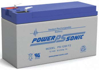 powersonic, power sonic, sla, sealed lead acid, PS-1290, 12V 9Ah, F1 terminal