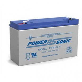 powersonic, power sonic, sealed lead acid, sla, PS-6100, 6V 12Ah, f1 terminal