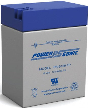 powersonic, power sonic, PS-6120, 6V 12Ah, FP terminal, sla, sealed lead acid