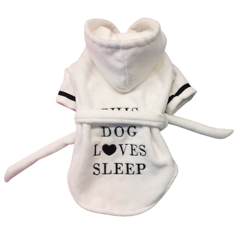 Pet Cotton Bathrobe