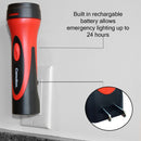 6 LED Rechargeable Plug-In Emergency Ready Flashlight Cardboard Box of 2