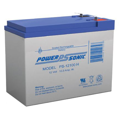 powersonic, power sonic, sla, sealed lead acid, PS-12100H, 12V 12Ah, F2 terminal, F2