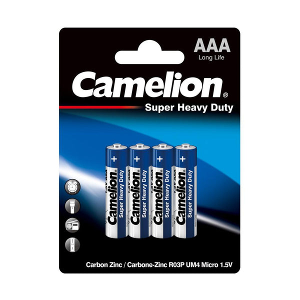 Camelion AAA Super Heavy Blister Pack of 4