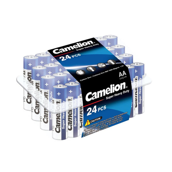camelion AA super Heavy Duty 24 pack, AA batteries, super heavy duty batteries