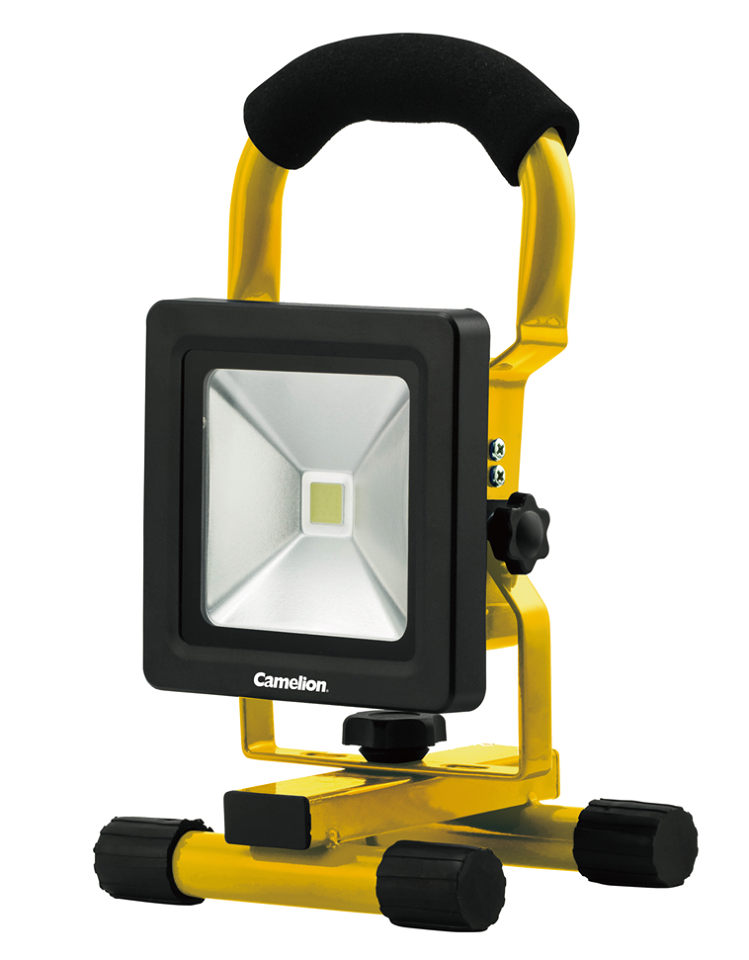 Camelion 10W COB LED Rechargeable Work Light with Kick Stand, rechargeable work light, COB LED Light, kick stand light, rechargeable, work light, garage light, shop light, 10W