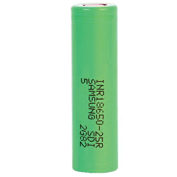 samsung, 18650, 3.7V, li-ion, lithium ion, 2500mAh, 25R, 18650 battery