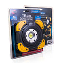 Titan, portable light, work light, worklight, COB LED light, garage light, shop light, light with stand, adjustable light