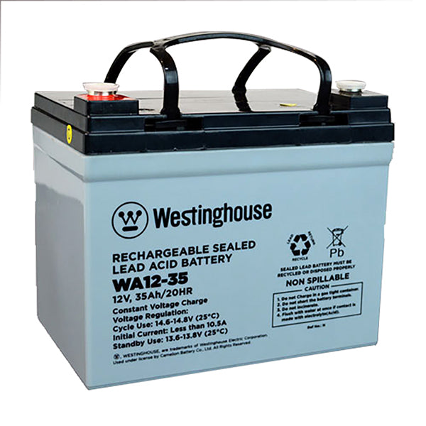 westinghouse, WA12-35, 12V, 35Ah, F7 terminal, sla, sealed lead acid