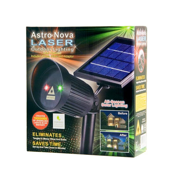 Astro Nova SOLAR Laser Projector, christmas, christmas lights, projection lights, red green lights, outdoor lights, xmas