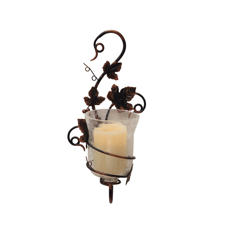 sconce, vine sconce, candle holder, wall candle holder, candle holder hanger, flameless candle, battery candle, battery operated candle, battery powered candle, home decor, indoor decor