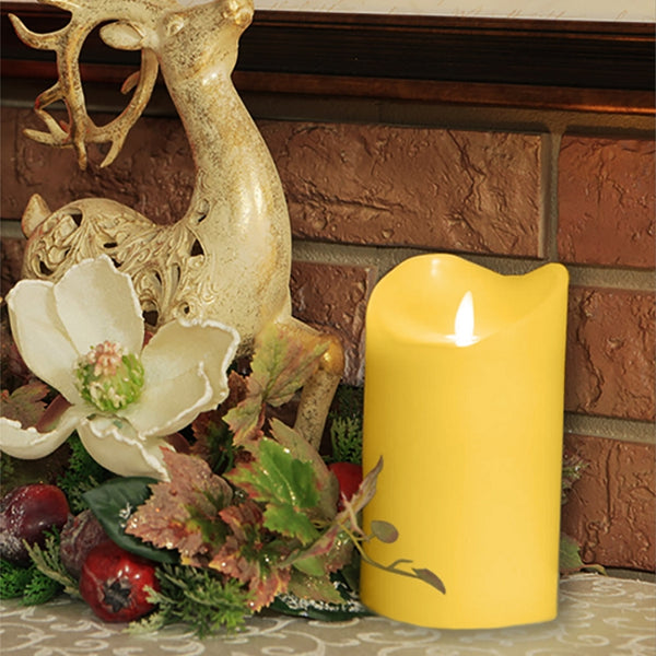 solare, solare 3D, flameless candle, battery candle, battery powered, battery operated, electronic candle, yellow candle, home decor, indoor decor, decorative lighting