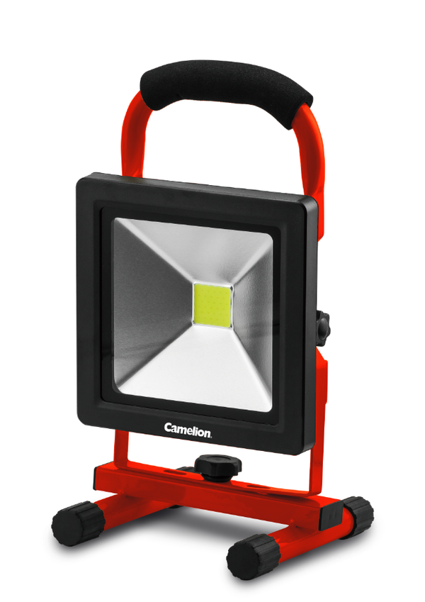 Camelion 20W COB LED rechargeable Work light with kick stand, work light, garage light, shop light, rechargeable light, kickstand light