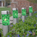 solar stake light, stake light, outdoor light, solar light, mosaic, mosaic light, garden, garden decor