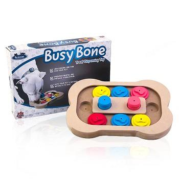 brainiac, busy bone, interactive pet toy, dog toy, dog treats, dog treat dispenser
