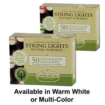 sting lights, battery operated, battery powered, lights, decor lights, indoor lights, white lights, multi-color lights