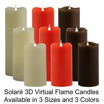 solare, solare 3d, virtual candles, battery operated candle, battery powered candle, electronic candle, indoor decor, home decor, decorations, decorative lighting, holiday decor