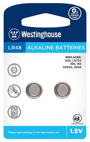 Westinghouse AG5 / 393 / LR754 1.5V Button Cell Battery
