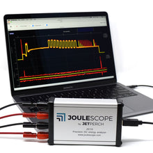 Load image into Gallery viewer, Joulescope with MacBook, oscilloscope view