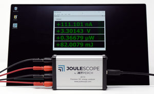 Joulescope with Windows PC, multimeter view
