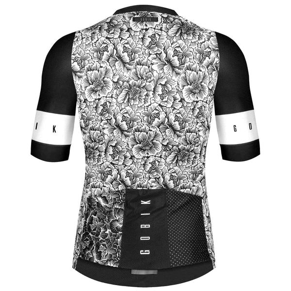 MAILLOT UNISEX MANGA CORTA CX PRO BLACK & WHITE BLOOM
