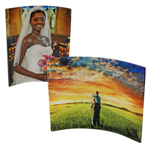 "Curved Acrylic Photo Panel - 8"" x 10"" - Next Day Custom"
