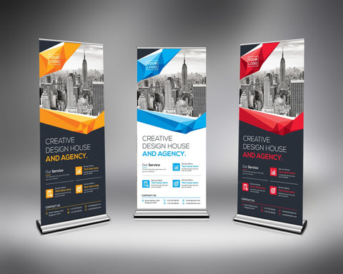 "Roll up Banner 33.5' x 79"" - Next Day Custom"