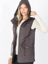 Load image into Gallery viewer, Cargo Vest Ash Grey