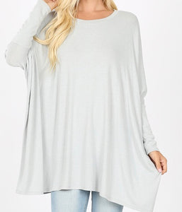 Oversized Light Sweater Light Grey