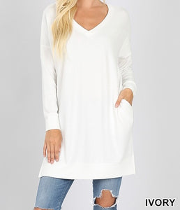 Tunic with Pockets Ivory