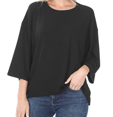 Oversized Boxy Shirt Black
