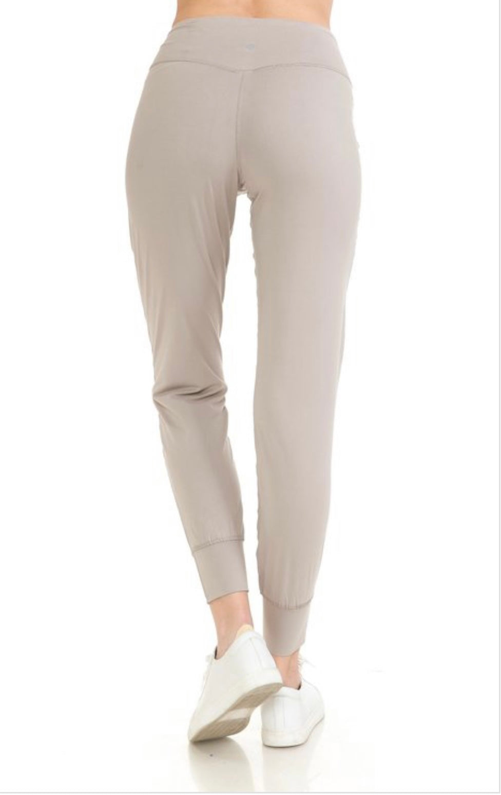 Active Joggers with Wide Waistband Light Grey