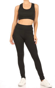Butt Lifting Leggings Black & Grey