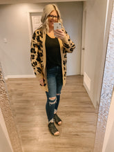 Load image into Gallery viewer, Oversized Animal Print Cardigan