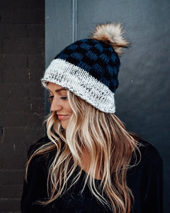 Grey & Black Buffalo Plaid Toque