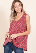 Load image into Gallery viewer, Floral Print Sleeveless Top