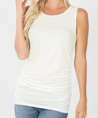Sleeveless Top Ivory