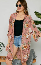 Load image into Gallery viewer, Ash Rose Floral Kimono