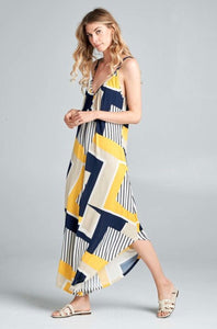 Navy and Yellow Jumpsuit
