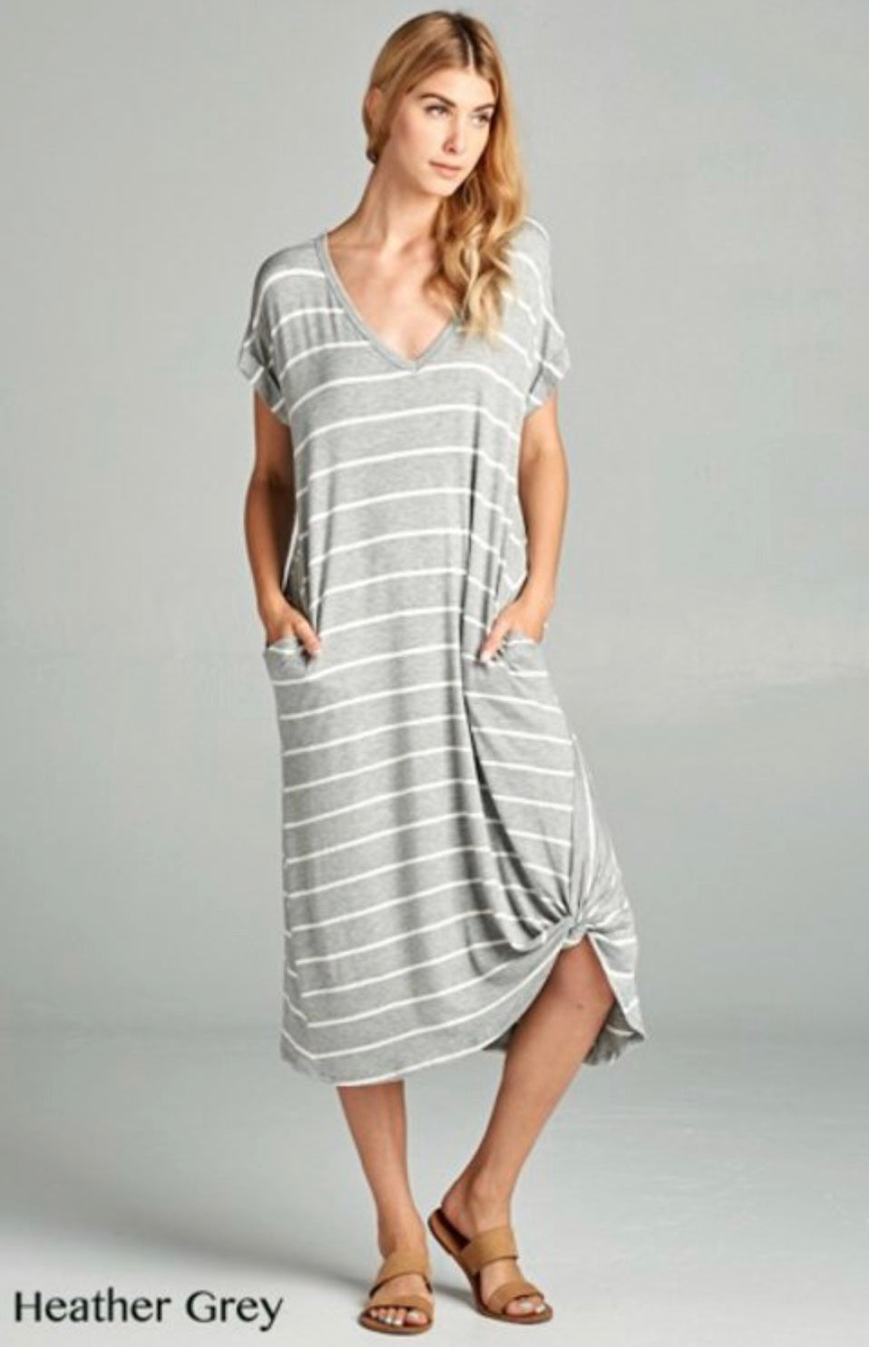 Heather Grey T-Shirt Dress