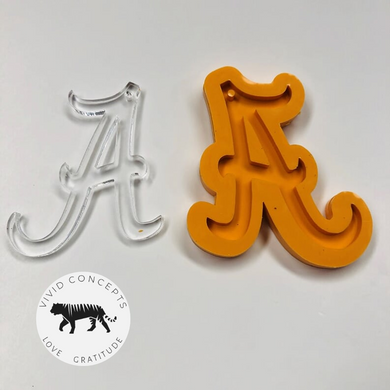Letter A Silicone Mold