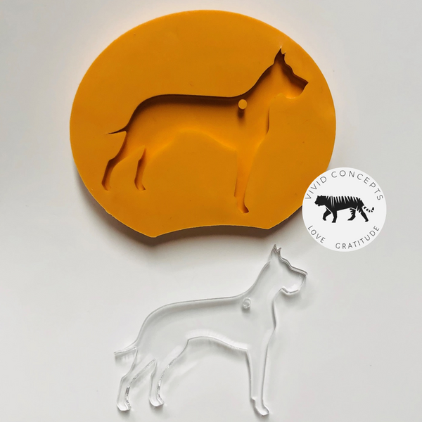 Dog - Great Dane (cropped ears) Silicone Mold