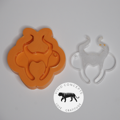 Mouse headband Silicone Mold (with horns)