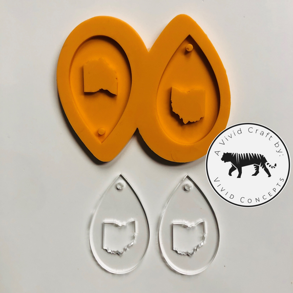 Ohio Droplet Earrings Silicone Mold