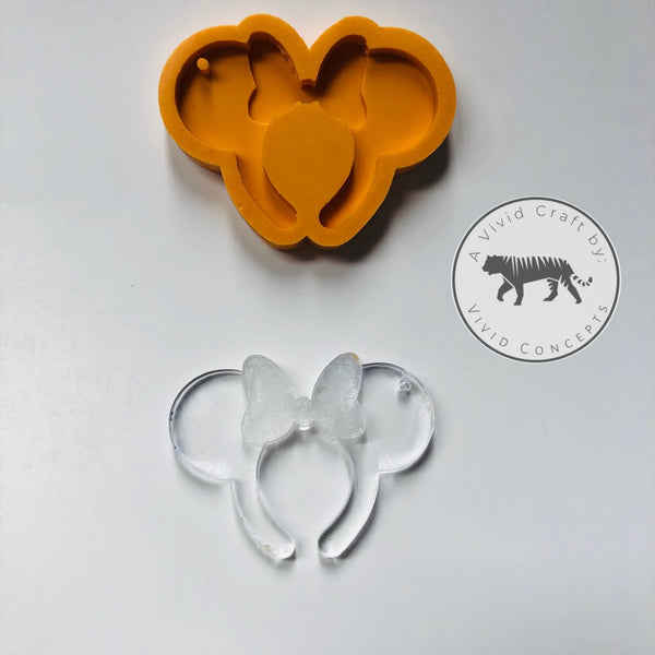 Mouse headband Silicone Mold (girl with bow)