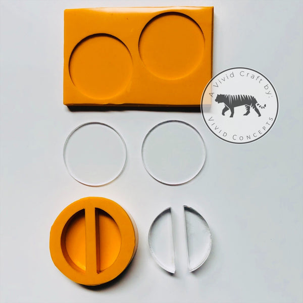 Flat Circle Straw Topper Silicone Mold