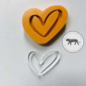 Heart Outline Silicone Mold