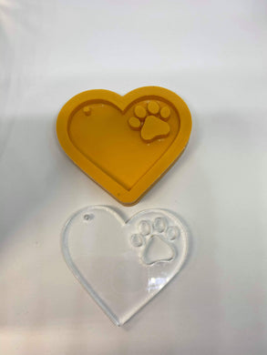 Paw Heart Solid Silicone Mold